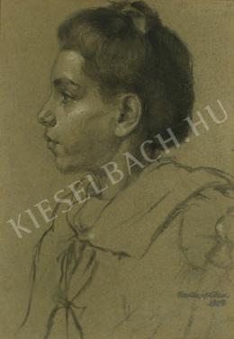 Barta István - Fiatal lány kendővel (1909)