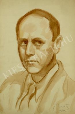Barta István - Férfi portréja (Önarckép) (1941)