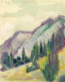 Barta István - Hegyoldal (Fenyőfák) (1920-as évek)