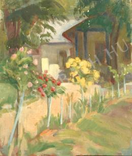Barta István - Kert rózsatövekkel (Szolnoki kert) (1910 körül)