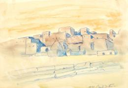 Barta István - Mediterrán táj antik romokkal (1937)