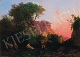Id. Markó, Károly sr. - Sunset lights by Tivoli (Prokris' death), about 1838