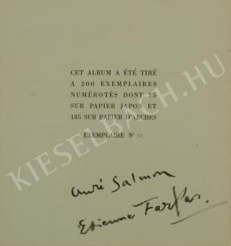 Farkas István - Correspondance-mappa címlap, 1929 - A 8db együttes ára: 1 875 000 Ft