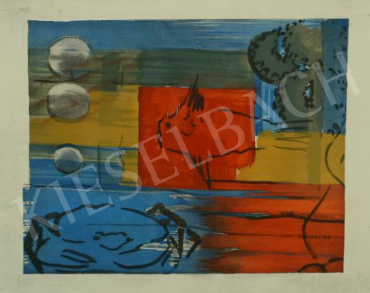 For sale  Farkas, István - Red seabed, 1928 - Together the Lithographies: 1 875 000 HUF 's painting