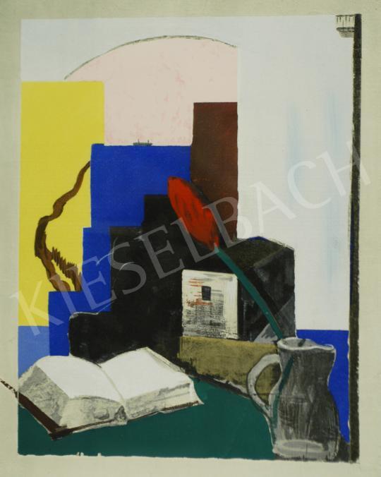 Eladó  Farkas István - Irodalmi csendélet (Könyv), 1928 - A 8 db együttes ára: 1 875 000 Ft festménye