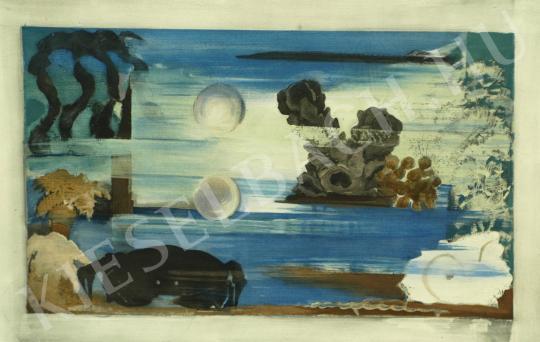 Eladó  Farkas István - Vizek mélyén (Világok, Tenger), 1928 - A 8 db együttes ára: 1 875 000 Ft festménye
