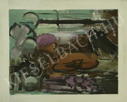Farkas István - Fehér tengerfenék (Mélytenger, Fehér tengeralatti táj), 1928 - A 8 db együttes ára: 1 875 000 Ft