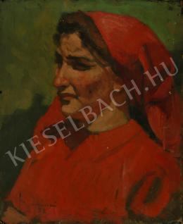 Mácsai István - Vöröskendős nő (1952)