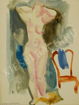 Szabó, Vladimir - Female nude standing