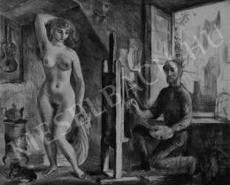 Szabó Vladimir - Akt a műteremben