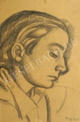 Uitz Béla - Férfi portré profilból (2016-04-07)