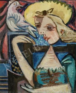 Zemplényi Magda - Lány galambbal