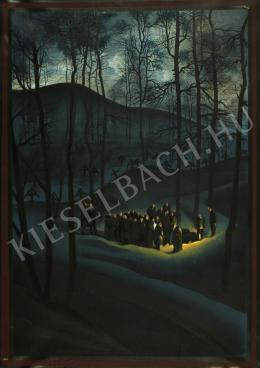 Jaschik Álmos - Jelenet holdvilágnál a kopár erdőben