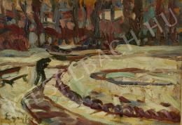 Egry, József - Winter in the park (c. 1910)