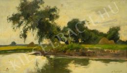 Edvi Illés, Aladár - Riverside landscape