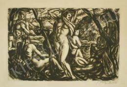 Uitz, Béla - Bathers (1916)