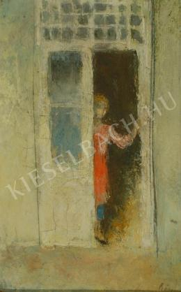 Szőnyi, István - Standing in the door (1930s)