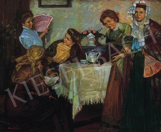Béli Vörös Ernő - Délutáni tea | 17. Aukció aukció / 69 tétel