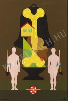 efZámbó István - Ásó kapa és nagyharang csonttal