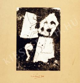 Bálint Endre - Feketében rezgő hóember (1970)