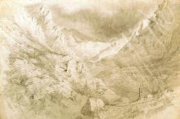 Mednyánszky László - Tátrában (Völgy a Tátrában) (1860 körül)