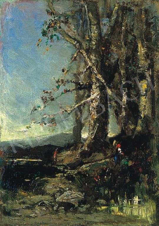 K. Spányi Béla - Erdőben | 17. Aukció aukció / 81 tétel
