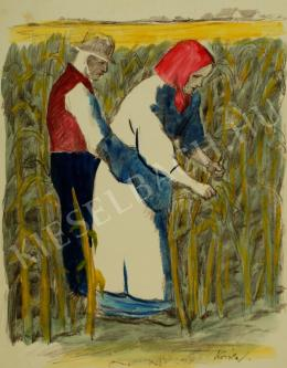 Koszta József - Kukoricatörők (1930-as évek)