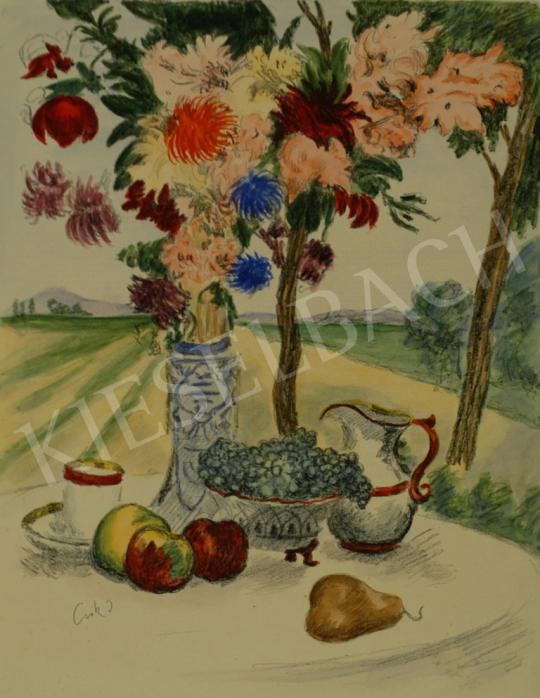 Csók István - Csendélet (Reggelizőasztal) festménye
