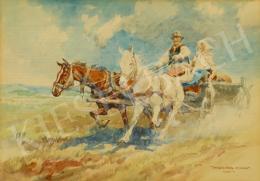 Zórád Ernő - Lovaskocsi a pusztában (1940)