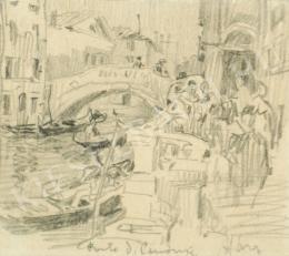 Háry Gyula - Velencei részlet híddal (Ponte dei Cammini) (1890-es évek)
