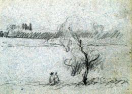Nyilasy Sándor - Két alak a Tiszaparton (1910 körül)