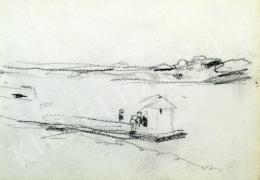 Nyilasy Sándor - Ladikház a Tiszán (1910 körül)