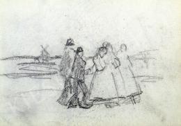 Nyilasy Sándor - A tápéi lányokat követve (1910 körül)