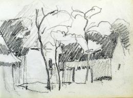 Nyilasy Sándor - Alsóvárosi utcarészlet (1910 körül)