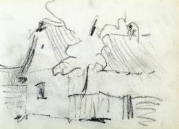 Nyilasy Sándor - Utcarészlet (Tanulmány) (1910 körül)
