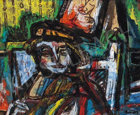 Ámos, Imre - Self portrait in the studio | 17th Auction auction / 89 Item