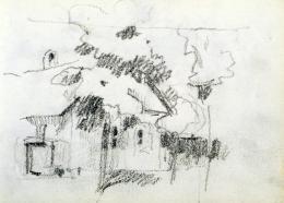 Nyilasy Sándor - Parasztgazda portája (1910 körül)