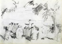 Nyilasy Sándor - Kompozíciós tanulmány (Tápéi körmenet) (1910 körül)