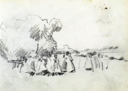 Nyilasy Sándor - Tápéi lányok a Tisza-parton (1910 körül)