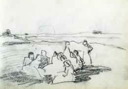 Nyilasy Sándor - Találkozás naplementekor (1910 körül)