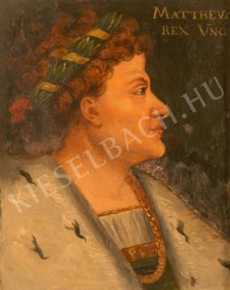 Túry Gyula - Mátyás király portréja (I. Corvin Mátyás) (1880-as évek)