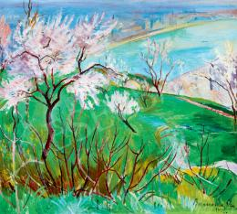 Bornemisza, Géza - Spring on Gellért Hill (View in the Danube) (1923)