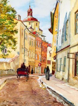Frank Frigyes - Napos utcarészlet (Lublin) (1918)