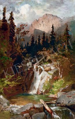 Molnár József - Vízesés a Tátrában