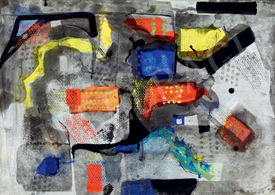 Nemes Endre - Piros, sárga, kék kompozíció | 41. Aukció aukció / 11 tétel