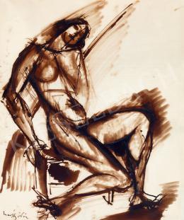 Márffy, Ödön - Female Nude Sitting