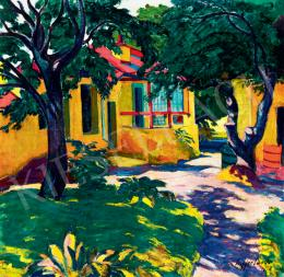 Ziffer, Sándor - Sunlit Courtyard in Nagybánya (View to our Garden) (1910)