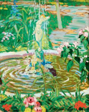 Balla, Béla - Flower Garden with Fountain | 41th Auction auction / 27 Item