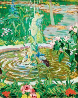 Balla Béla - Virágos kert szökúkúttal