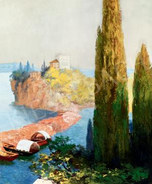 Háry Gyula - Itáliai tájkép (Garda-tó) | 41. Aukció aukció / 28 tétel
